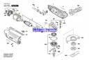Винт с головкой torx 4x16 Torx Oval-Head Screw 4x16 эксцентриковой шлифмашины Bosch PEX 400 AE (3603CA4000) (рис.19)