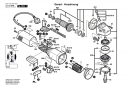 Ротор с вентилятором220-240V болгарки GWS 1000 (рис.803)