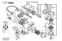 Зубчатое колесо ведомоеZ=38 болгарки GWS 1000 (рис.38)