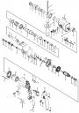 шестерня и ствол в сборе перфоратора Sturm RH2591P (рис.17N19N21N)