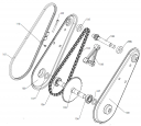 Звездочка редуктора культиватора Pubert MB 87 L (рис.103)