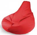 Красный бинбэг (кресло-мешок) XL эко-кожа + внутренний чехол.