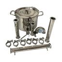 Ректификационная колонна, дистиллятор Уралец котел 3 -  12 литров (самогонный аппарат)