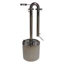 Ректификационная колонна, дистиллятор Уралец Премиум 20 литров (самогонный аппарат)