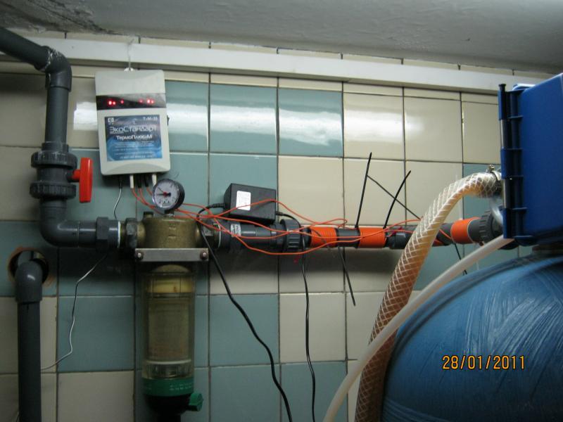 Схема электронный преобразователь солей жесткости умягчитель воды.