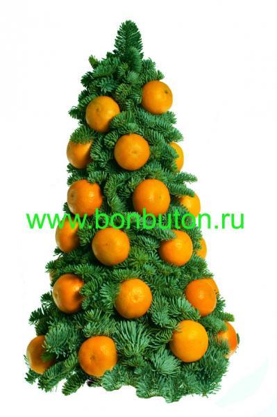 Елка с мандаринами мастер класс