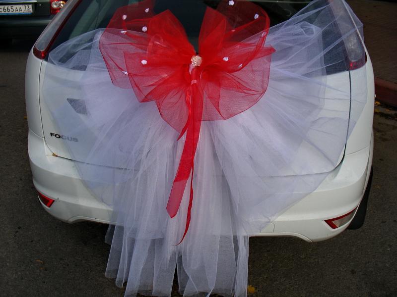 Украшения на свадебную машину своими руками банты