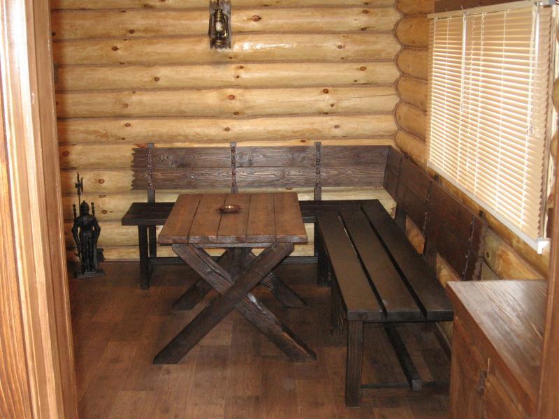 Мебель для бани под старину