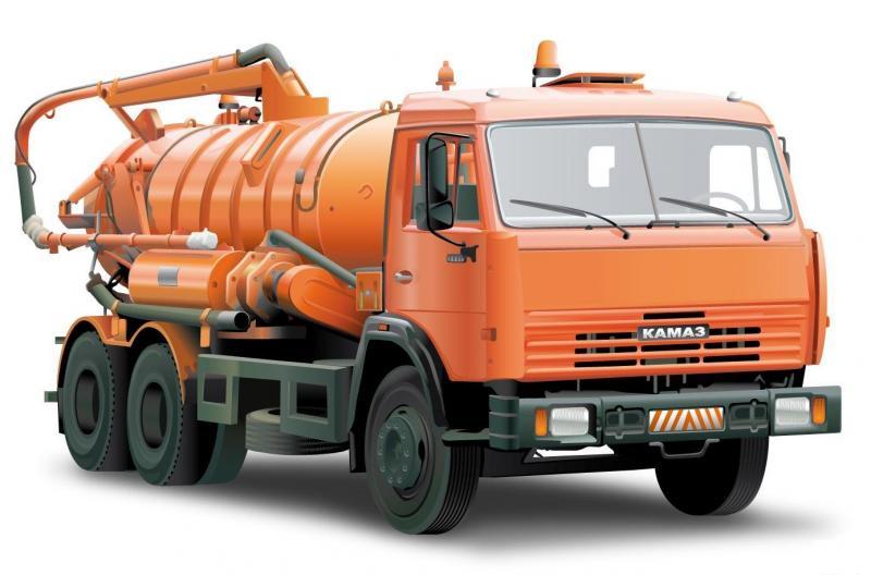 Услуги илососа (ассенизаторской машины) в Ульяновске.  Главная.  Вакуумная машина КО-529-14 8 куб.м.