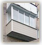 Балкон п-образный из алюминия с сайдингом в Ярославле - на п.