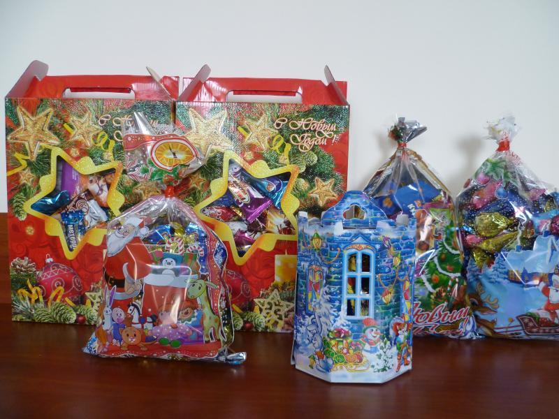 Сладкие новогодний подарок для детей