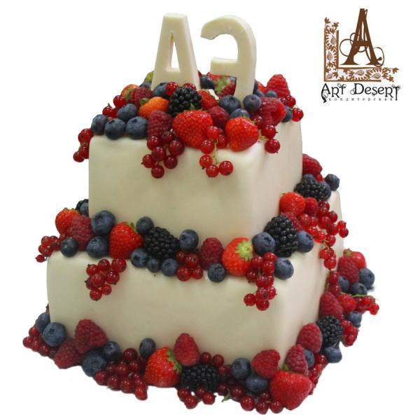 Свадебный торт фруктовая свадьба