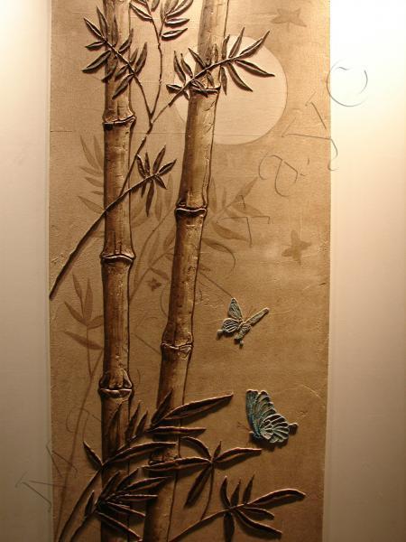 Картина бамбука своими руками