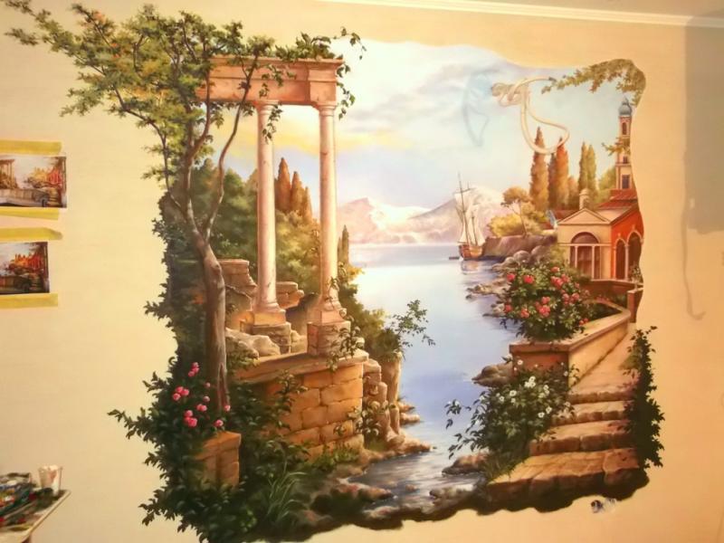Пейзаж на стену своими руками