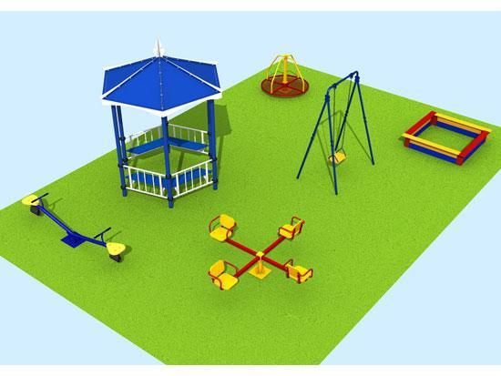 Как сделать макет детской площадки из бумаги своими руками 37