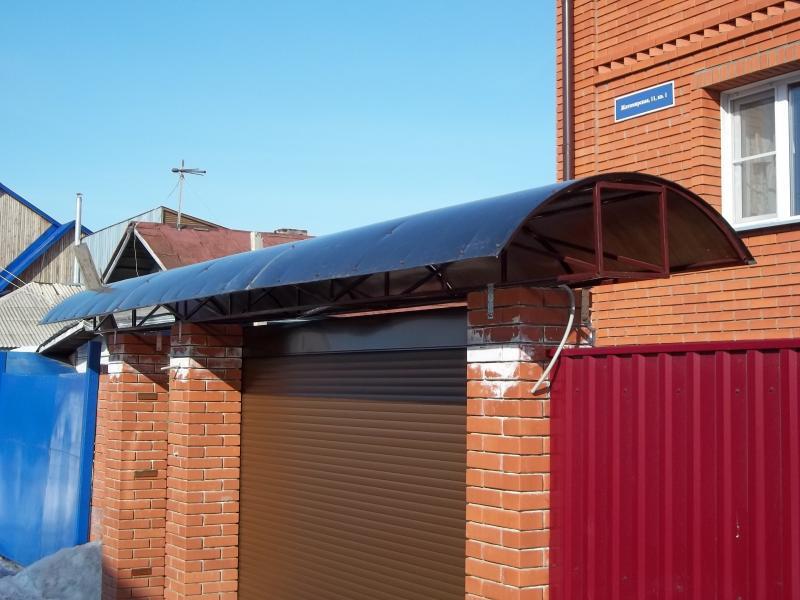Крыша над воротами своими руками 77