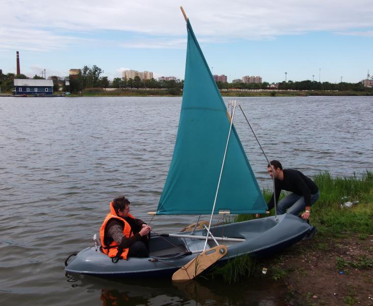 Лодка пвх с парусом своими руками 12