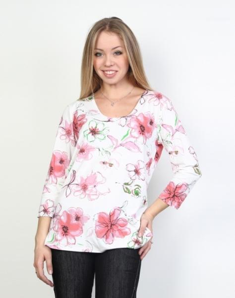 Купить Блузки В Интернет Магазине С Цветочным Принтом
