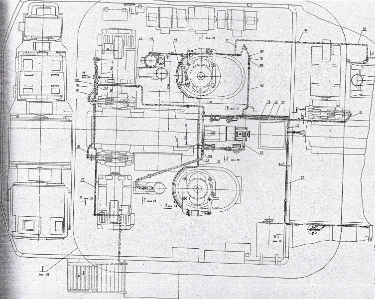 Схема электрическая соединений экскаватор ЭКГ-8И, ЭКГ-4У.  Установка компрессора 3521.14.01.000.