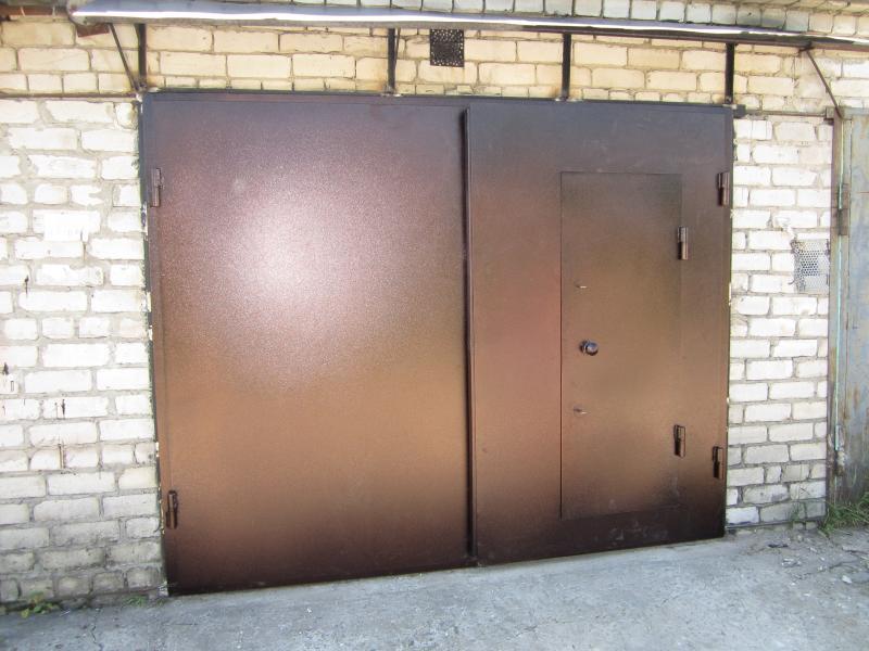 Гаражные ворота распашные металлические своими руками цена