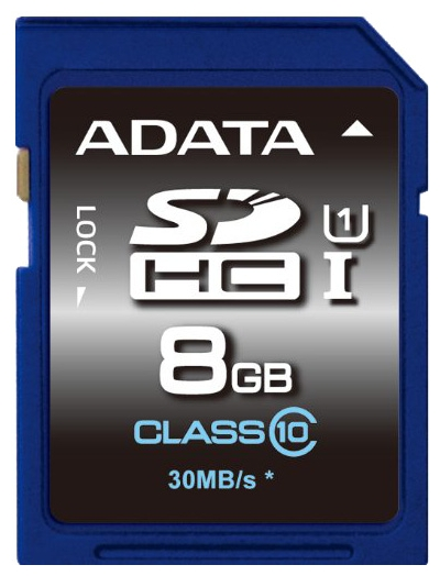 Флеш карта SDHC 8Gb Class10 A-Data ASDH8GUICL10-R Ultra speed