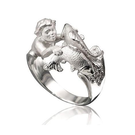 кольцо со знаком евангелия в виде рыбки