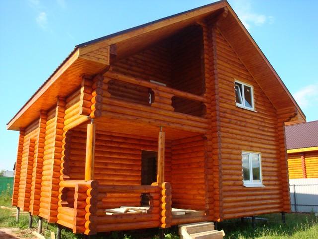 строительство домов бань из оцилиндрованного бревна под ключ чехов