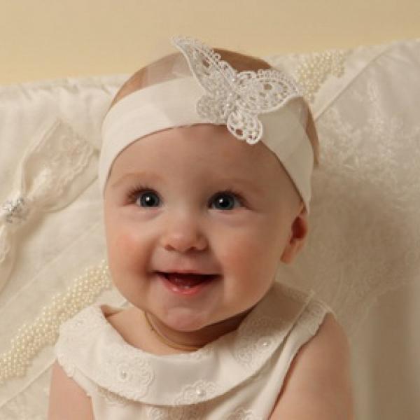 Повязка на голову для новорожденных своими руками