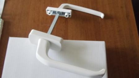 Ручка двухсторонняя асимметричная с замком, белая - купить в.