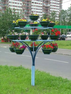 Подставки для цветов уличные металлические своими руками