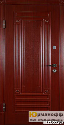 металлическая дверь с отделкой массивом дуба