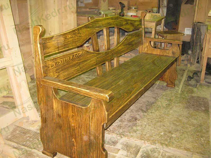Фото скамейки со спинкой из дерева