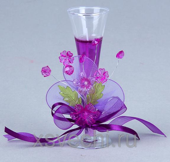 Свечка с цветами
