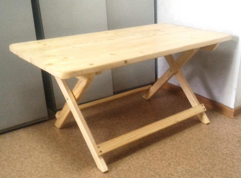 Раскладной стол своими руками в домашних условиях 74