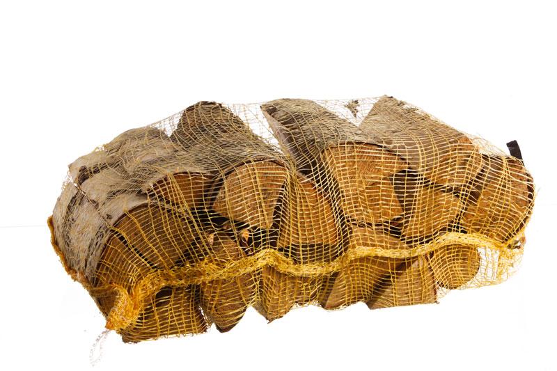 Березовые дрова в сетках