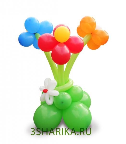 Как сделать клумбу из шаров