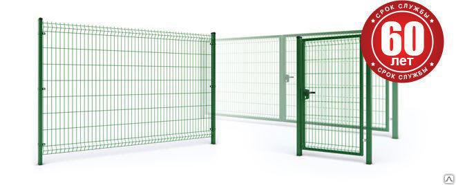 Ворота из 3д сетки
