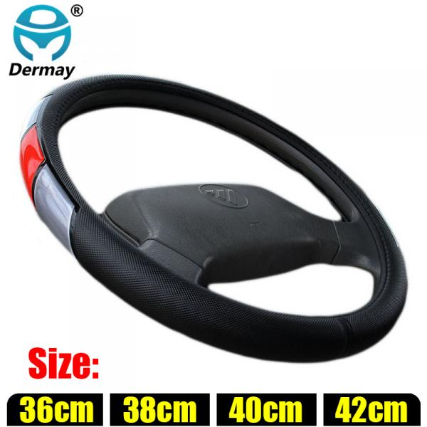 DERMAY Steering Wheel Covers for Car Bus Truck, 36 38 40 42 45 47 50cm Diameter reflective Sports Auto Steering-wheel cover