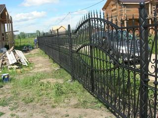 Ворота с ажурной ковкой