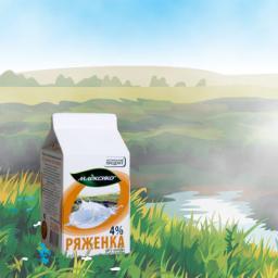 Ряженка (жирность 4%, упаковка тетрарекс)
