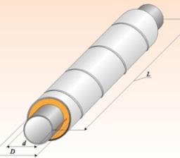 Труба изолированная в оцинкованной оболочке