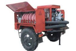 Пожарная мотопомпа Гейзер 1600 прицепная и Гейзер 1600 П прицепная высокого давления, пожарный ГОСТ Р 53332-2009