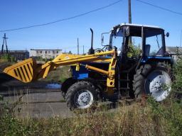 Фронтальный погрузчик (КУН) ПФ на тракторы МТЗ, ЮМЗ