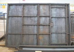 Ворота промышленные из профильных труб и листа