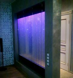 Изготовление элементов интерьера из стекла и акрила со светодиодной подсветкой