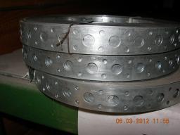 Лента стальная оцинкованая перфолента