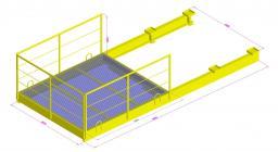Площадка выносная для грузов ПВ 2,5-2,3-2,5т. с металлическим настилом