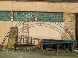 Производство ферм из профильных труб разборных арочных