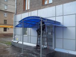 Козырёк для входа от производителя Новосибирск