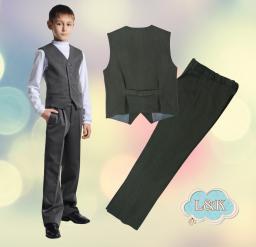 Школьный костюм для мальчика: брюки и жилет